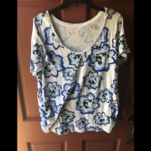 Lane Bryant 18/20 colorful floral top